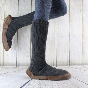 LL Bean Wool Sock Slippers Size L 10.5 - 11